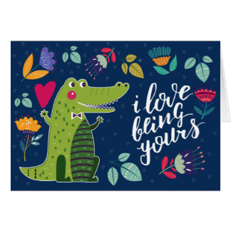 Funny Crocodile Valentine's Day Greeting Cards