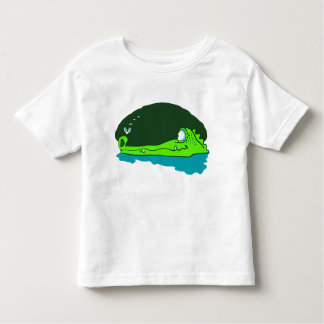 funny crocodile wathes fly cartoon toddler t-shirt