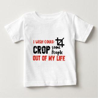 Funny crop people Geek designs Baby T-Shirt