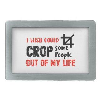 Funny crop people Geek designs Belt Buckle