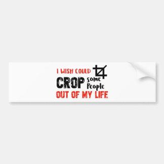 Funny crop people Geek designs Bumper Sticker