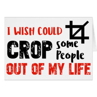 Funny crop people Geek designs Card