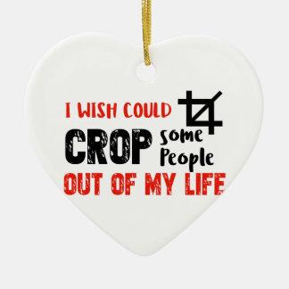 Funny crop people Geek designs Ceramic Ornament