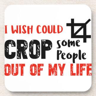 Funny crop people Geek designs Coaster