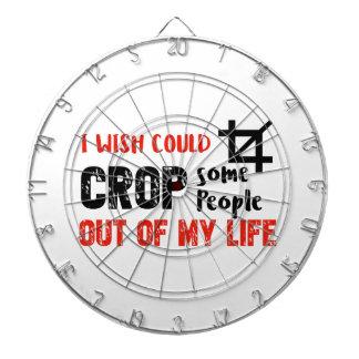 Funny crop people Geek designs Dartboard
