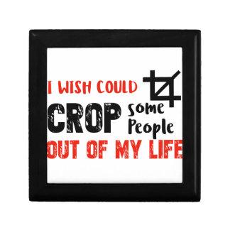 Funny crop people Geek designs Gift Box