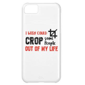 Funny crop people Geek designs iPhone 5C Cover