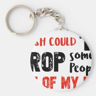 Funny crop people Geek designs Keychain
