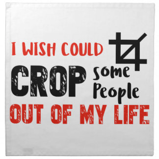 Funny crop people Geek designs Napkin