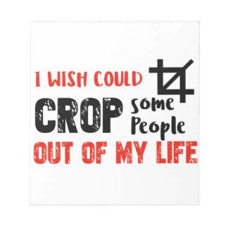 Funny crop people Geek designs Notepad