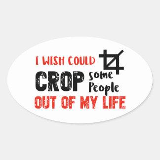 Funny crop people Geek designs Oval Sticker
