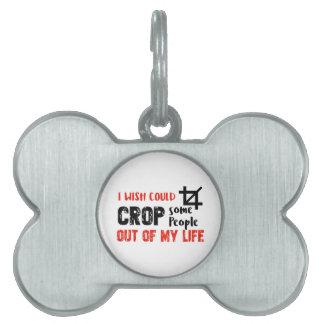 Funny crop people Geek designs Pet Tag