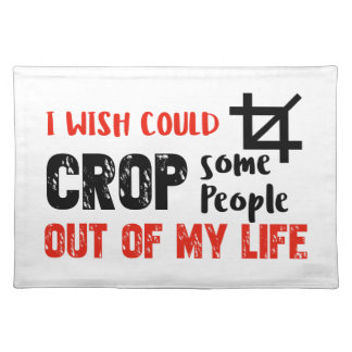Funny crop people Geek designs Placemat
