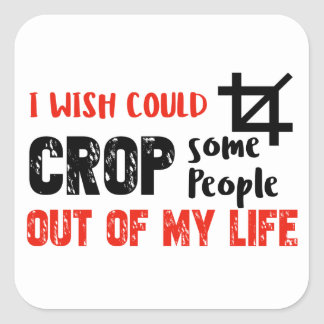 Funny crop people Geek designs Square Sticker