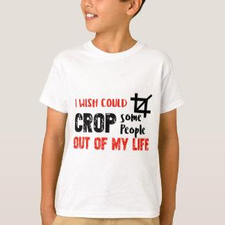 Funny crop people Geek designs T-Shirt