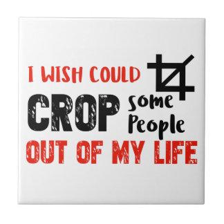 Funny crop people Geek designs Tile