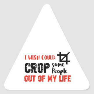 Funny crop people Geek designs Triangle Sticker
