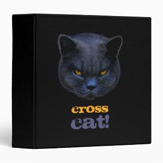 Funny Cross Cat Binders