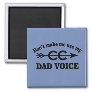 Funny Cross Country Running Dad Voice Magnet Gift