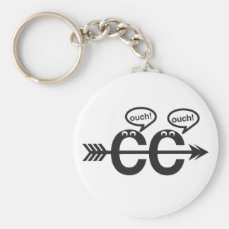 Funny Cross Country Running Runner Keychain- Ouch! Keychain