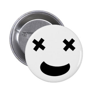 Funny cross eyed face 2 inch round button