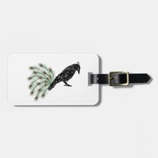 funny crow luggage tag