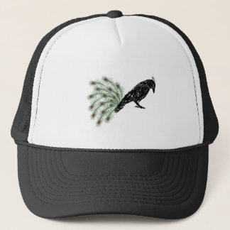 funny crow trucker hat