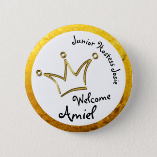 Funny Crown gold - private for Amiel 2 Inch Round Button