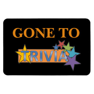 Funny Cruise Cabin Door Magnet - Gone to Trivia