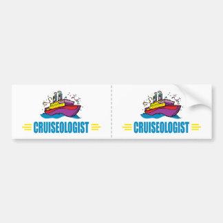 Funny Cruise Ship Caribbean Travel Fan Bumper Sticker