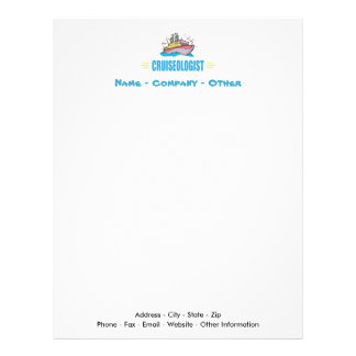 Funny Cruise Ship Travel Agency Vacation Letterhead Template