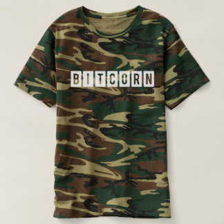 Funny Cryptocurrency Bitcorn Men's Camou T-Shirt