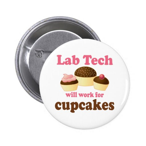 Funny Cupcakes Design Lab Tech Pinback Buttons