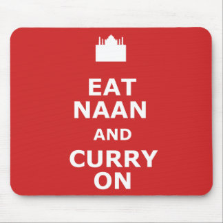 Funny curry mouse pad