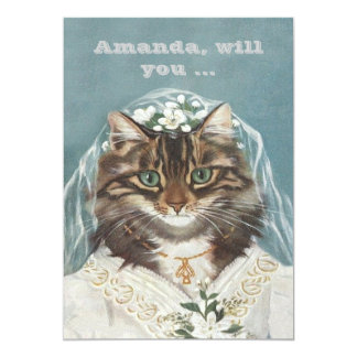 "Funny custom be my bridesmaid/maid of honor 5"" x 7"" invitation card"