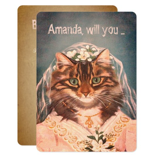 Funny custom be my bridesmaid/maid of honour card