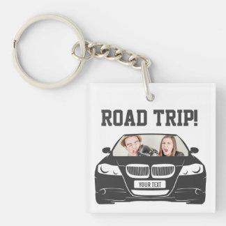 Funny Custom Car Photo Road Trip Keychain