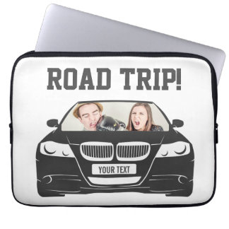 Funny Custom Car Photo Road Trip Laptop Sleeve
