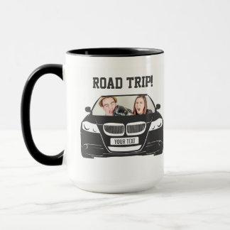 Funny Custom Car Photo Road Trip Mug