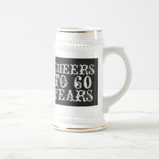 Funny custom cheers to 60 years birthday gift 18 oz beer stein
