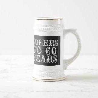Funny custom cheers to 60 years birthday gift beer stein