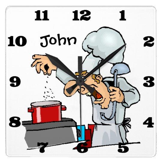 Funny Custom Chef Decorative Kitchen Wall Clock