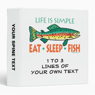 Funny Custom Fishing Binder