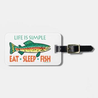 Funny Custom Fishing Luggage Tag