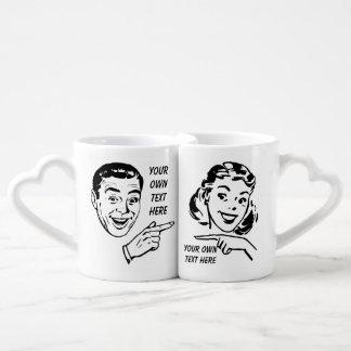 Funny custom love and couple coffee mug set