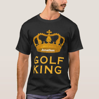 Funny Custom Name  GOLF KING Crown Gift V04 T-Shirt
