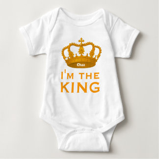 Funny Custom Name I AM THE KING Gift V01A1 Baby Bodysuit
