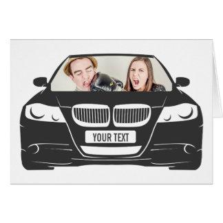 Funny Custom Photo Car Frame Card