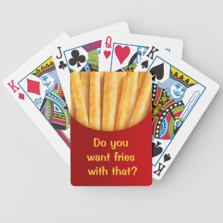 Funny Custom Playing Cards French Fries