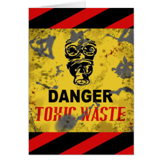 Funny Custom Toxic Waste Teen/College Age Birthday Greeting Card